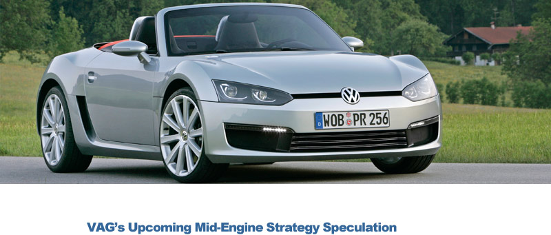 VW, Audi And Porsche May Expand Mid Engine Lineup. Share. Comments. Sports  Car Concepts ...