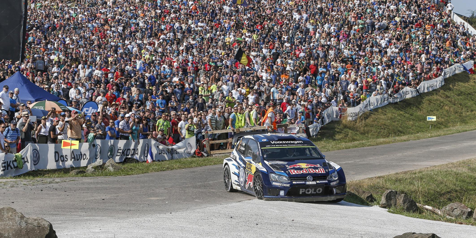 2015 Rally Germany Panzerplatte Sébastien Ogier Julien Ingrassia (FF) Volkswagen Polo R WRC  Photo Kräling