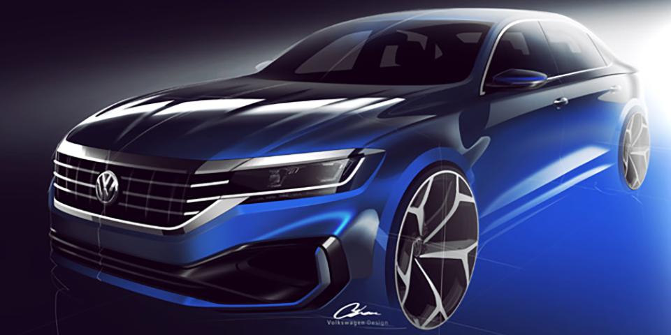2020-Volkswagen-Passat-Sketch-01