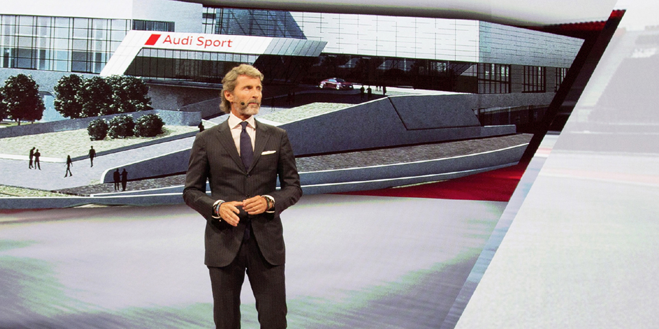 Stephan Winkelmann (CEO quattro GmbH) ) at the Audi press confer