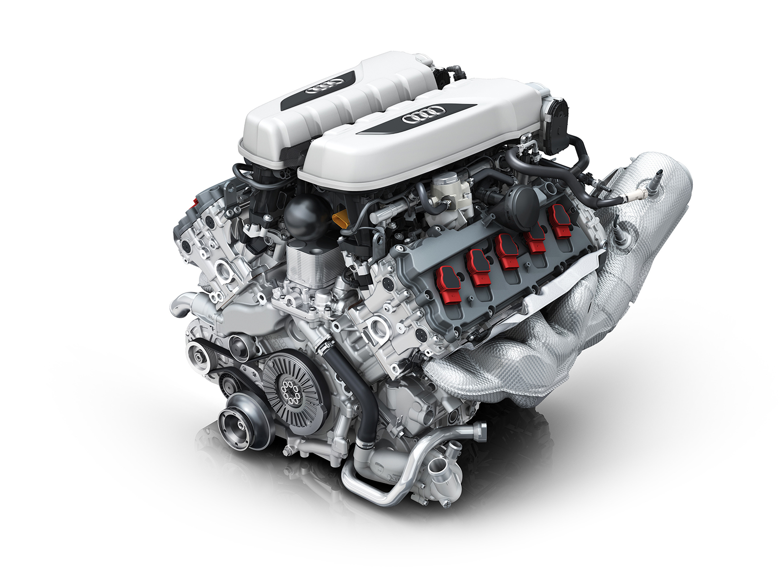The heart of the Audi R8: the V10 naturally aspirated engine