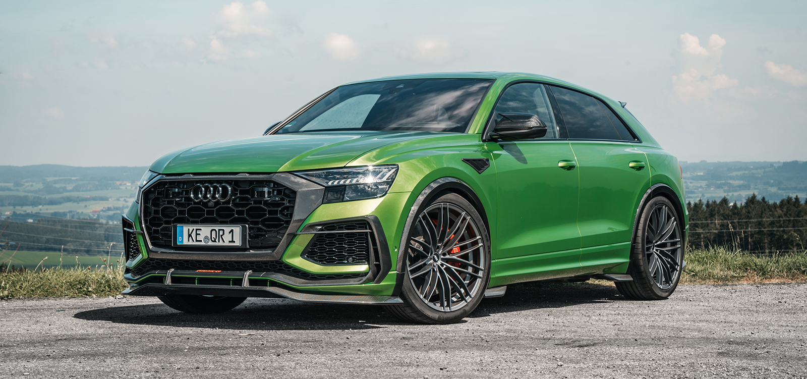 ABT_RSQ8-R_green_HR23_landscape_front_diagonally
