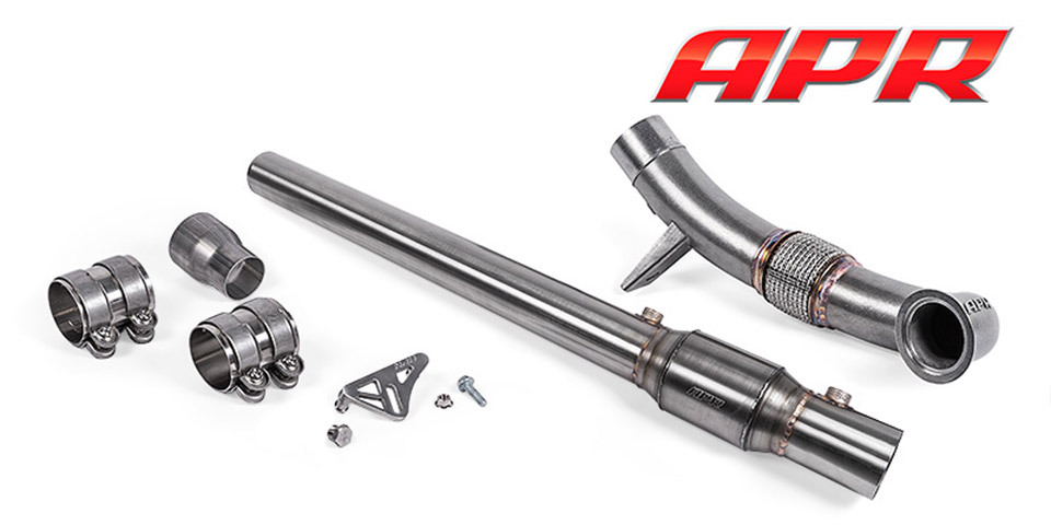 apr exhaust mk6 gen3 cast downpipe 110x60