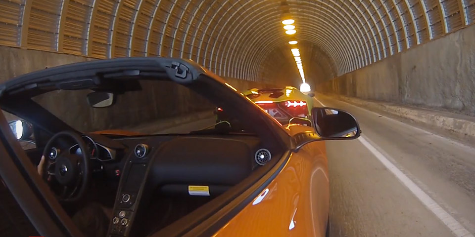 aventador tunnel run