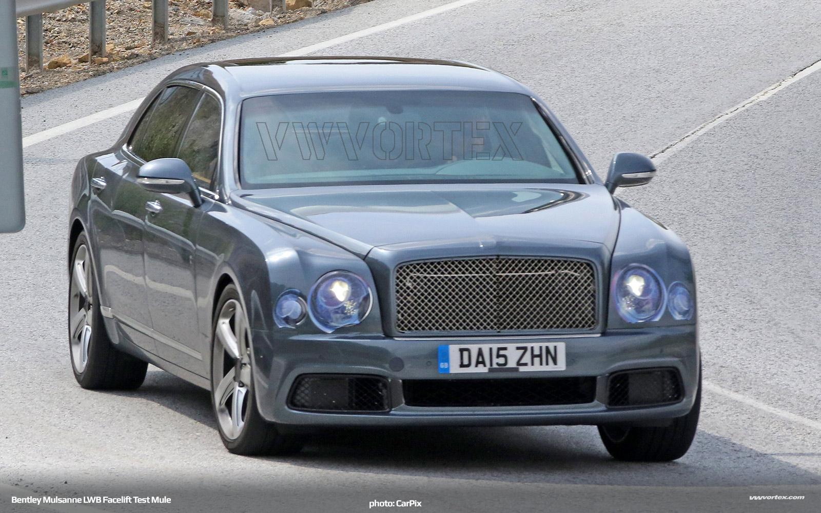 Bentley Mulsanne LWB test mule facelift 513 600x300