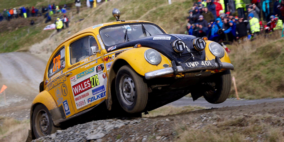 Bertie the Bettle contesting the 2015 WRGB National Rally 1