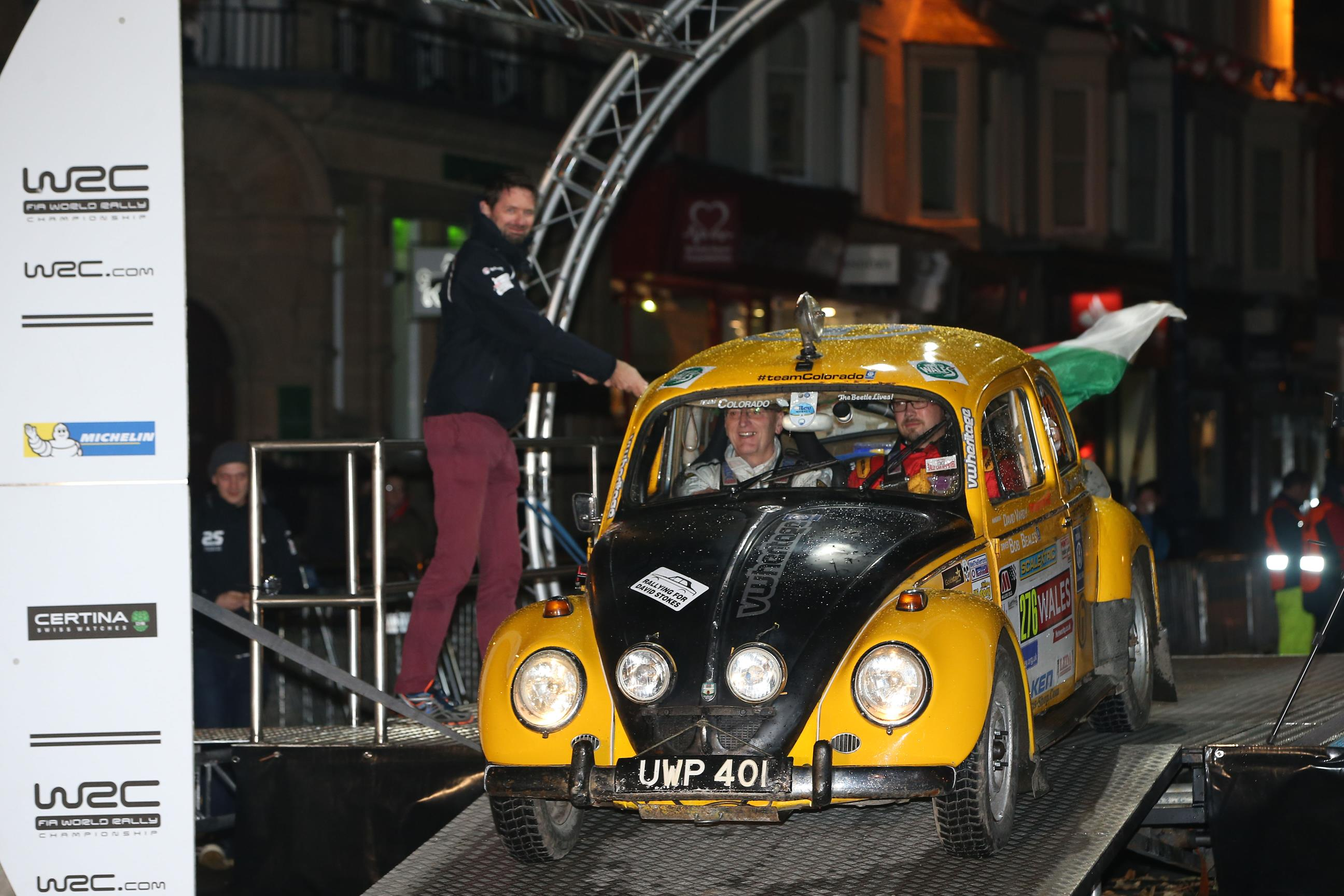 Bertie the Bettle contesting the 2015 WRGB National Rally 2
