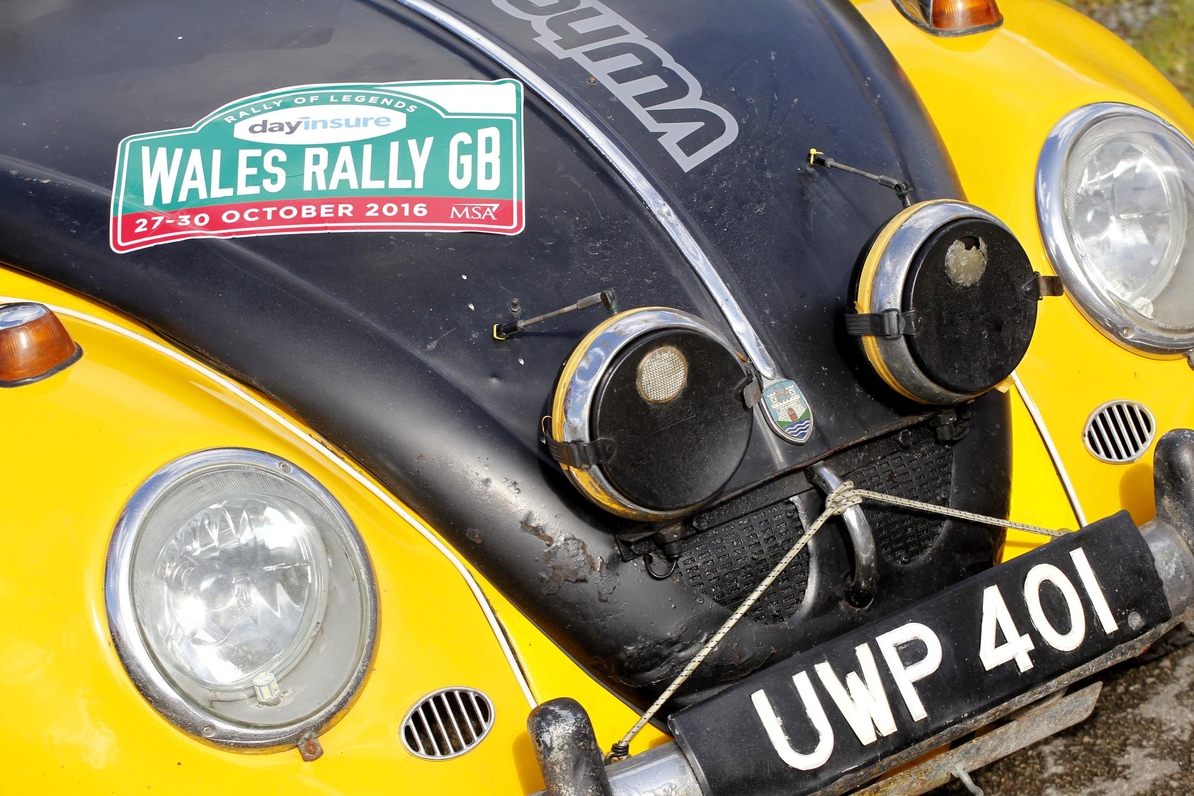 Bertie the Bettle contesting the 2015 WRGB National Rally 3