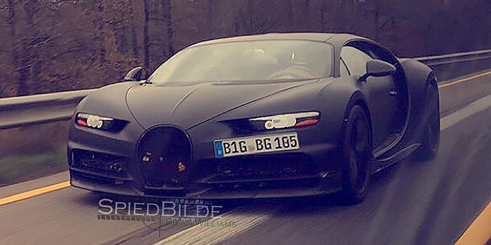 bugatti chiron spied ahead of geneva debut   vwvortex