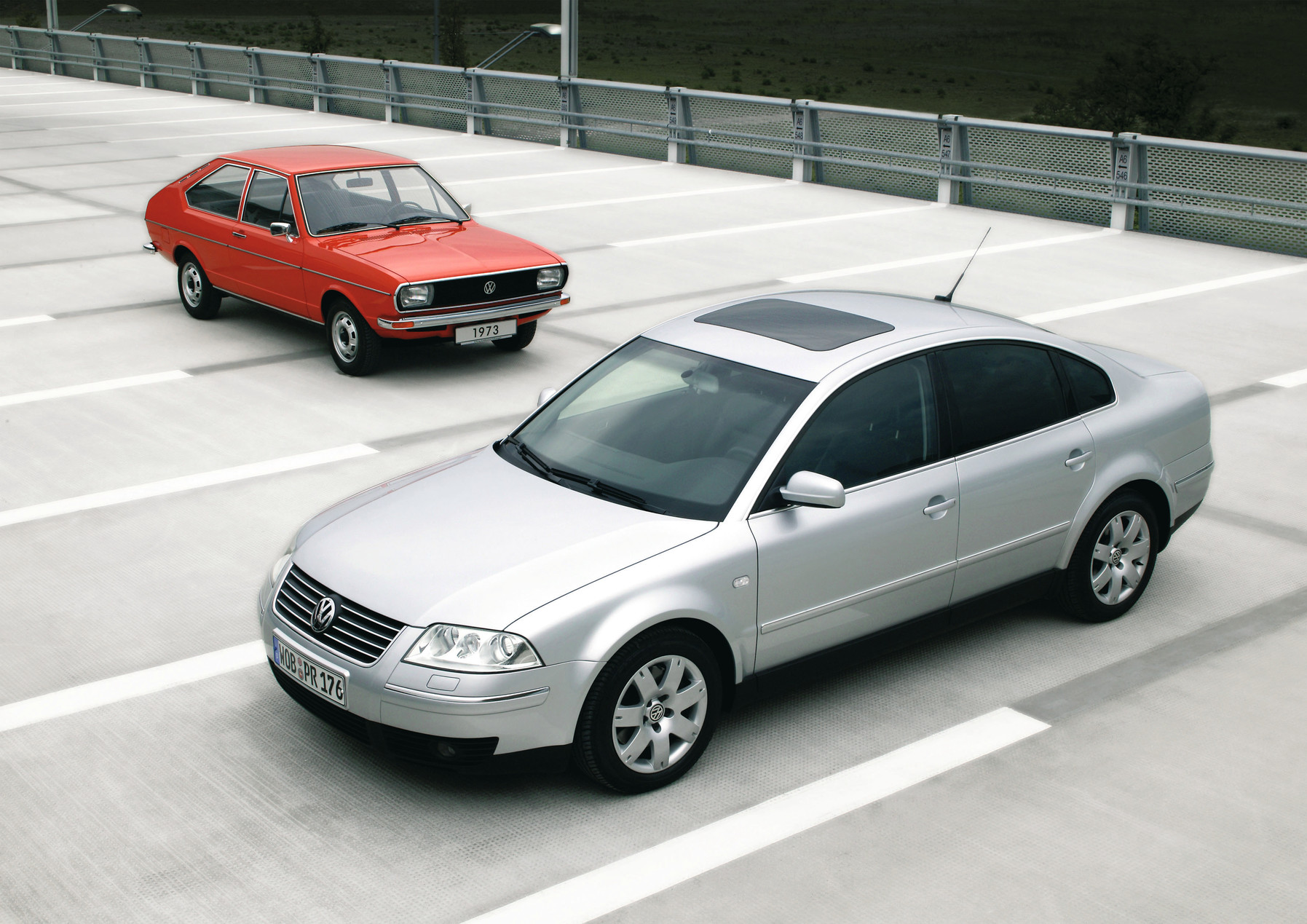 13 Million Passats: Volkswagen Passat B1, 1973, and Volkswagen Passat B5, 2003