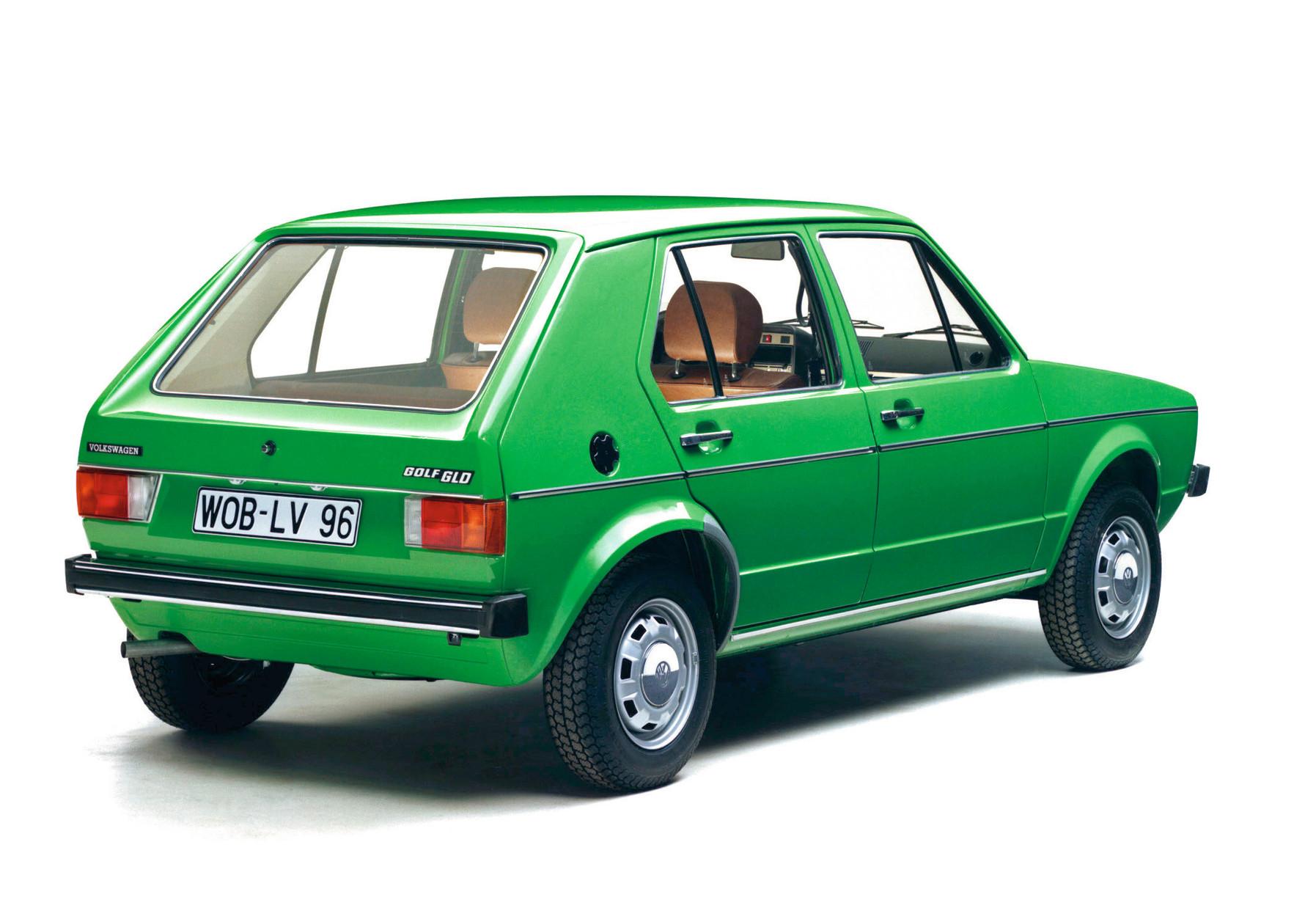 Der Golf Diesel von 1976 als gehobene Ausstattungsvariante GLD in baligrün