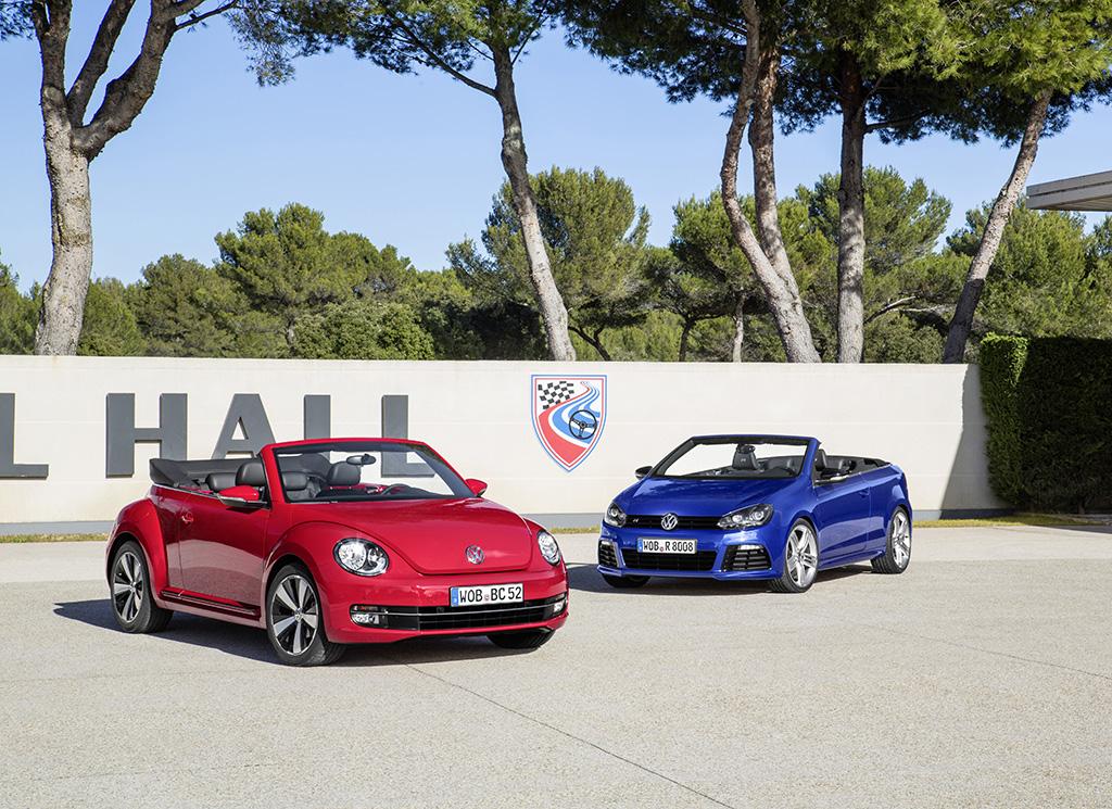 Das neue Volkswagen Beetle Cabriolet und Golf R Cabriolet