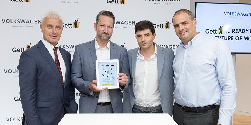 Startschuss der strategischen Partnerschaft in Berlin: Volkswagen Konzern und Fahrtenvermittler Gett planen Ausbau von On-Demand-Mobilitätslösungen sowie Expansion in Europa