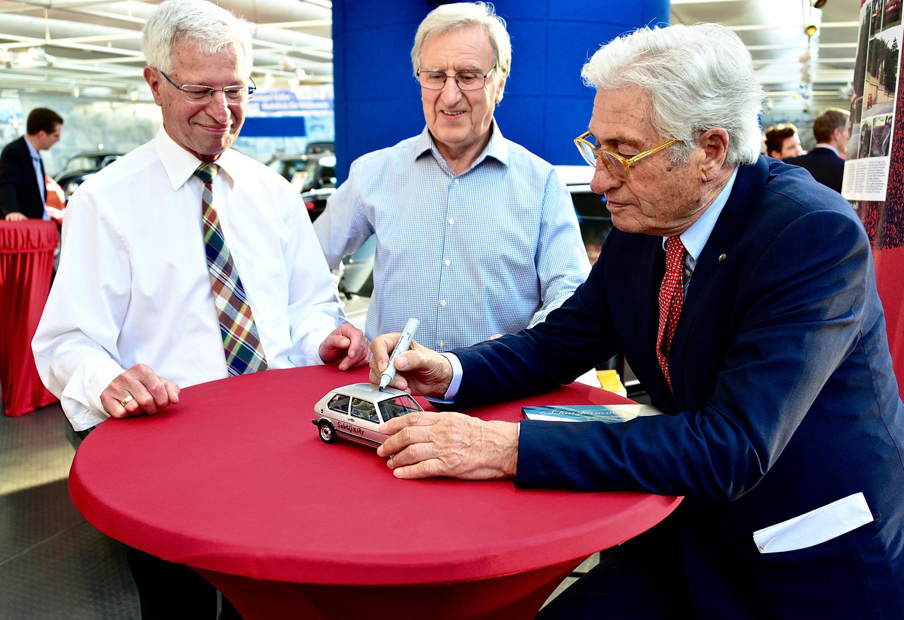 Giugiaro eröffnet Sonderschau zum 40. Jubiläum des Golf GTI