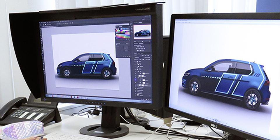 Auszubildende gestalten mit Digital-Technologien effizient und schnell den einzigartigen Wörthersee-GTI 2017