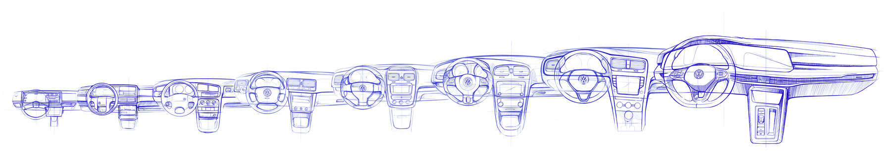 The all-new Golf (design sketch)