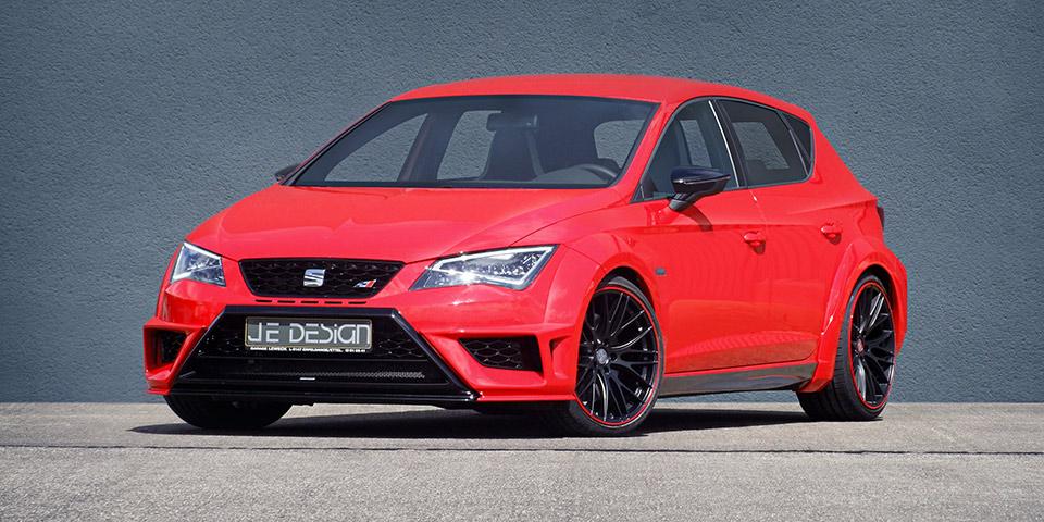 JE Design Seat Leon Cupra WideBodykit 5tuerer rot Front 01 110x60
