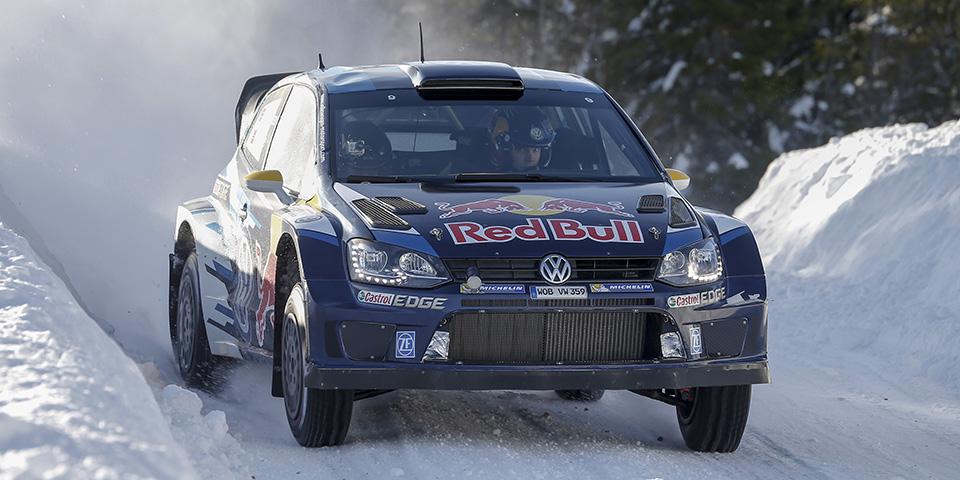 WRC Test Sweden Andreas Mikkelsen (NOR), Ola Fløene (NOR) Volkswagen Polo R WRC (2015)