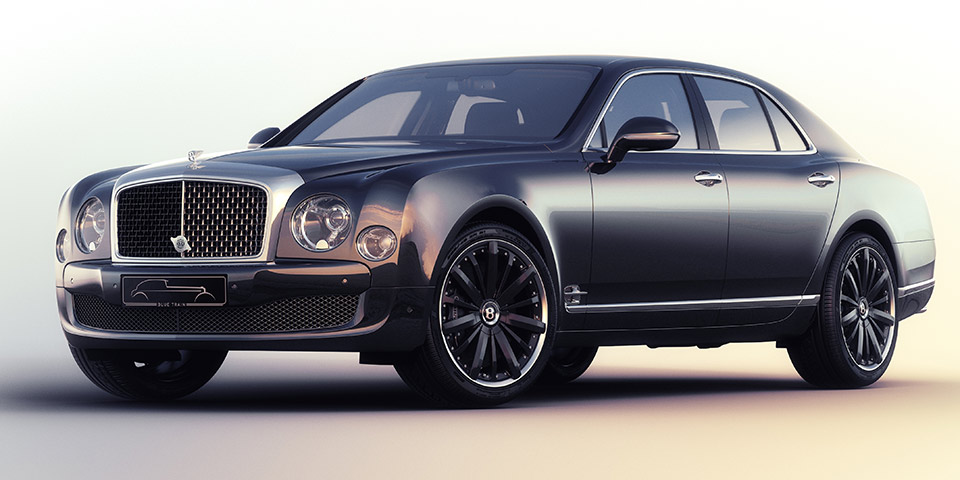 mulsanne speed blue train 110x60