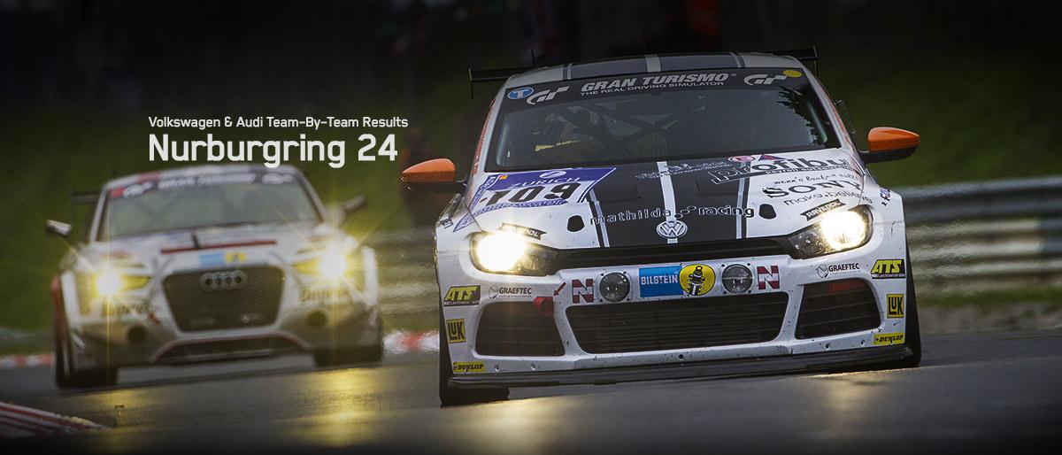 2013 24 Hours of Nurburgring: Volkswagen & Audi Team-by-Team Results