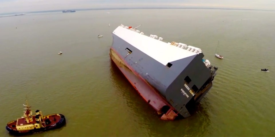 Will Höegh Osaka Car Carrier Ship Beached on Bramble Bank ...
