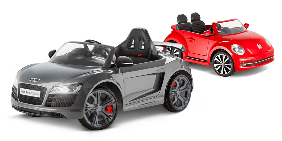 Audi R8 GT and Beetle Convertible Ride-Ons