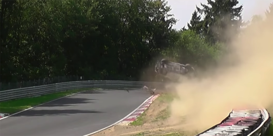 Watch: Scirocco Flips Three Times After Losing it at Nurburgring