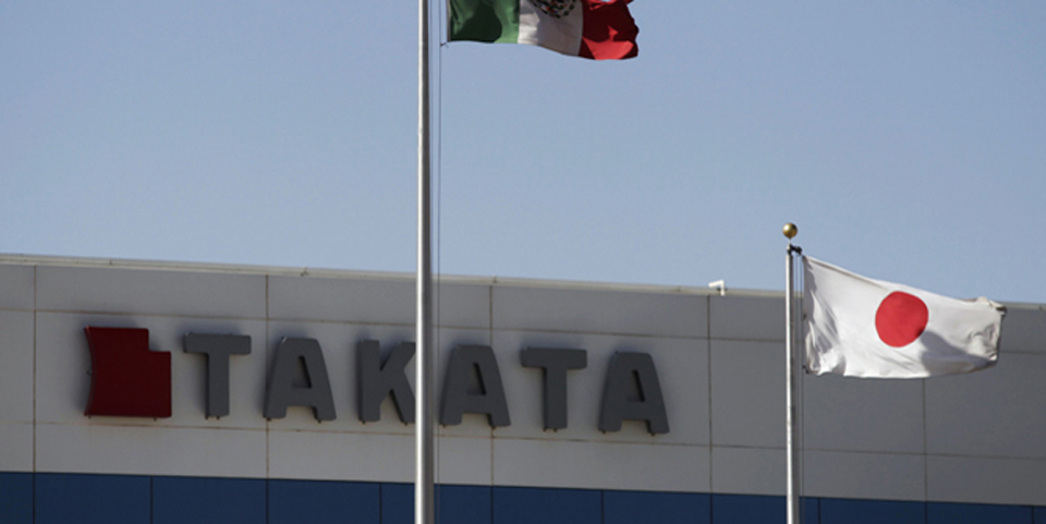 File photo of the Takata plant in Monclova