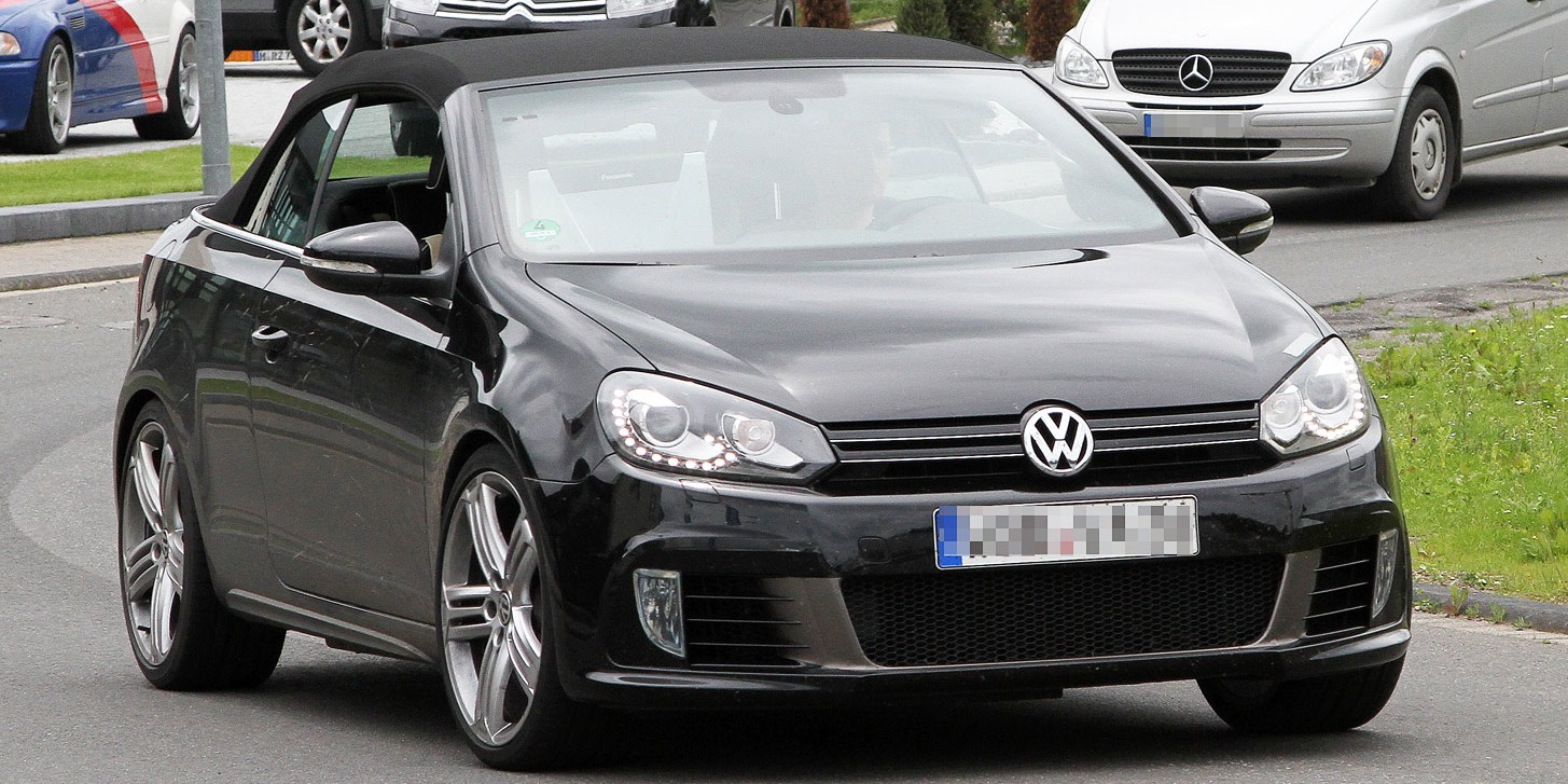 volkswagen golf r cabrio spy photo 001 e1340648279497