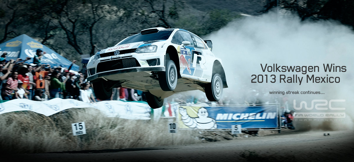 volkswagen WRC rally mexico 110x60