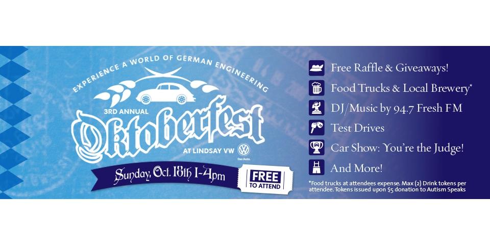 Lindsay Volkswagen Announces 3rd Annual VW Oktoberfest
