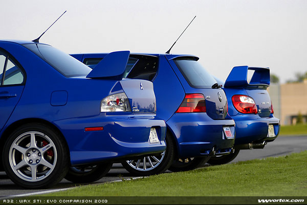 blue monday golf r32 vs wrx sti vs lancer evo golf r32 vs wrx sti vs lancer evo