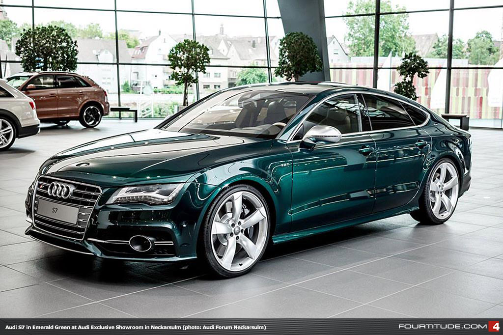 Fourtitude.com - One-off Emerald Green Audi S7...Mother of God!